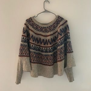 Anthropologie Fair Isle Poncho by Sleeping on Snow
